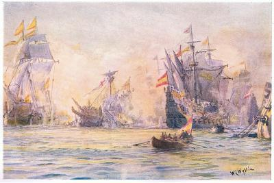 The End of the 'Gentleman Adventurer-The Revenge Captured by Spaniards 1591, 1915-William Lionel Wyllie-Giclee Print