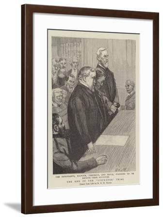 The End of the Liberator Trial--Framed Giclee Print