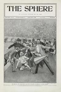 The End Of the Marathon Race - the Collapse Of Dorando in the Stadium'. the 1908 Olympic Games