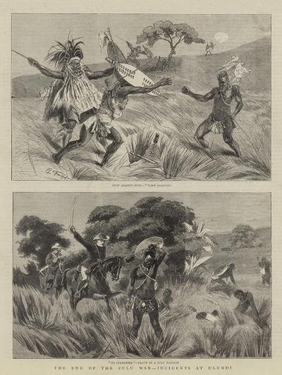 The End of the Zulu War, Incidents at Ulundi-Charles Edwin Fripp-Giclee Print