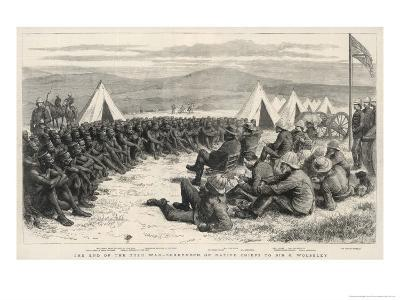 The End of the Zulu War, The Surrender of Native Chiefs to Sir G. Wolseley-Godefroy Durand-Giclee Print