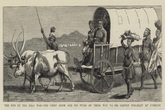 The End of the Zulu War-Charles Edwin Fripp-Giclee Print