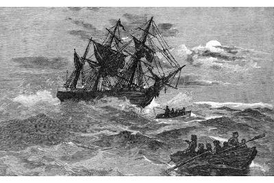 The 'Endeavour' on the Reef, Australia, 1770--Giclee Print