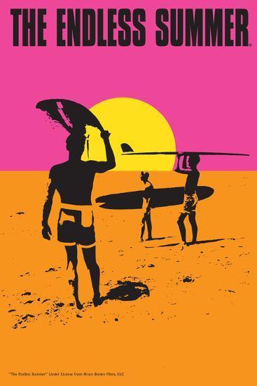 The Endless Summer - Original Movie Poster-Lantern Press-Premium Giclee Print