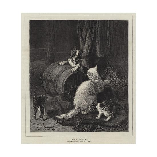 The Enemy-Louis Eugene Lambert-Giclee Print