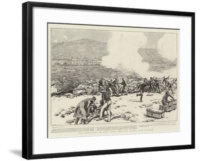 The Engagement at Mati, Greek Artillery Making Good Practice-Joseph Nash-Framed Giclee Print