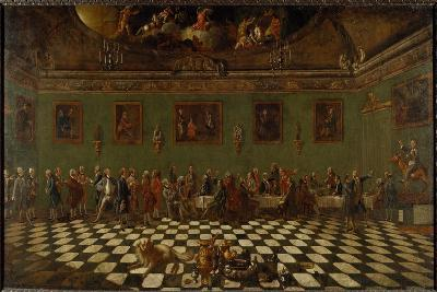The English Club House at Florence- Thomas Patch and Pompeo Girolamo Batoni-Giclee Print