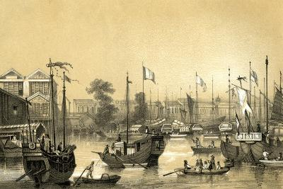 The English Factories at Canton, 1847-JW Giles-Giclee Print