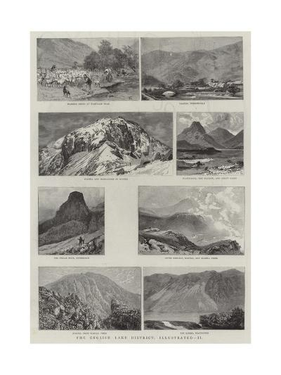 The English Lake District, Illustrated, II--Giclee Print