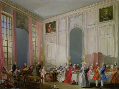 The English Tea (Le the a L'Anglaise) and a Society Concert at the House of the Princesse De Conti-Michel Barth?l?my Ollivier-Giclee Print