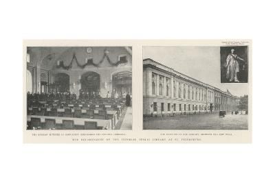The Enlargement of the Imperial Public Library at St Petersburg--Giclee Print