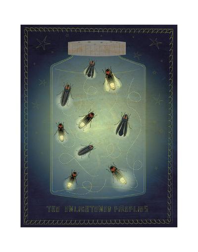The Enlightened Fireflies-John W^ Golden-Art Print