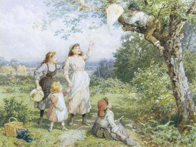 The Entangled Kite-Myles Birket Foster-Giclee Print