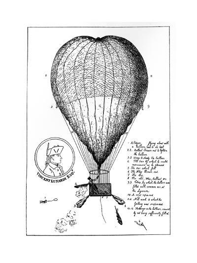 The Enterprizing Lunardi's Grand Air Ballon, 1784--Giclee Print