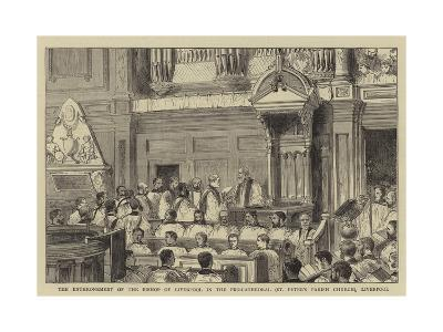 The Enthronement of the Bishop of Liverpool in the Pro-Cathedral (St Peter's Parish Church)--Giclee Print