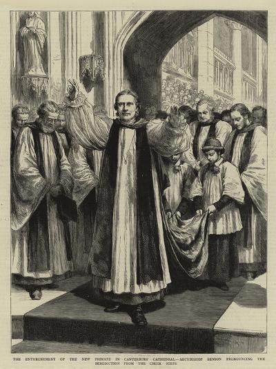 The Enthronement of the New Primate in Canterbury Cathedral-Godefroy Durand-Giclee Print