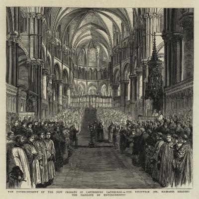 The Enthronement of the New Primate in Canterbury Cathedral--Giclee Print