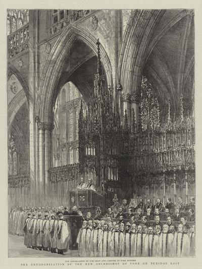 The Enthronisation of the New Archbishop of York on Tuesday Last--Giclee Print
