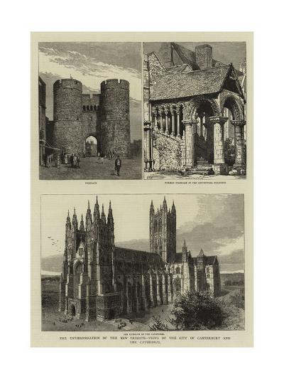 The Enthronisation of the New Primate, Views of the City of Canterbury and the Cathedral--Giclee Print
