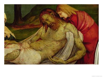 The Entombment from the Isenheim Altarpiece, circa 1512-16-Matthias Gr?newald-Giclee Print