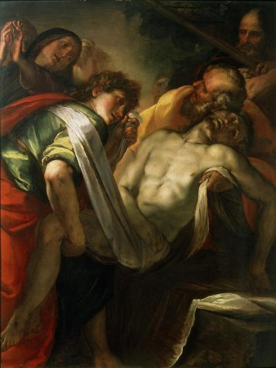 The Entombment of Christ, 1620S-Giulio Cesare Procaccini-Giclee Print
