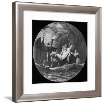 The Entombment of Christ, 19th or 20th Century-Newton & Co-Framed Giclee Print