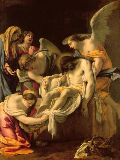 The Entombment (Oil on Panel)-Simon Vouet-Giclee Print