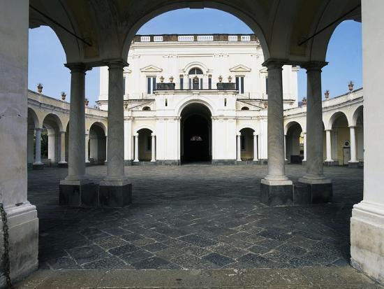 The Entrance and Elliptical Portico, Villa Campolieto--Giclee Print