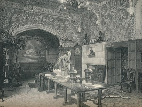 The Entrance Hall of Stanmore Hall, c1891-Unknown-Photographic Print