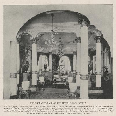 The Entrance-Hall of the Hotel Royal, Dieppe--Giclee Print
