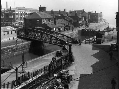 The Entrance Lock of St. Andrew's Dock, Kingston-Upon-Hull, East Yorkshire, England--Photographic Print