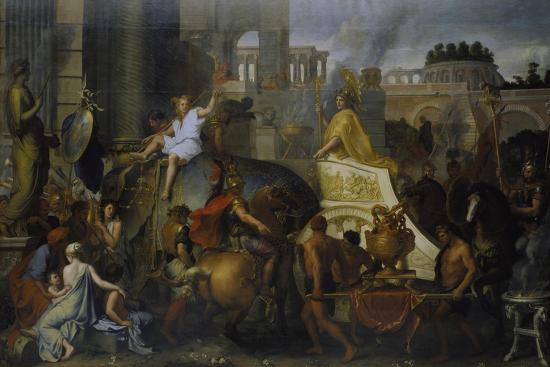 The Entrance of Alexander the Great into Babylon, C. 1673-Charles Le Brun-Giclee Print