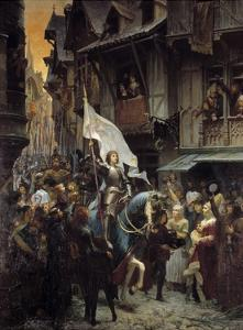 The Entrance of Joan of Arc into Orleans by Jean Jacques Scherrer