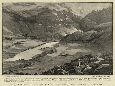 The Entrance of the Malakand Pass During the Storming Operations-Charles Joseph Staniland-Giclee Print