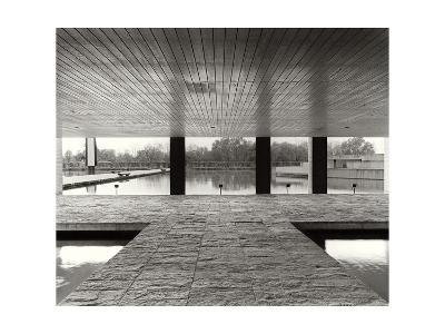 The Entrance of the Offices in the Mondadori Buiding by Oscar Niemeyer, 1970-1974--Photographic Print