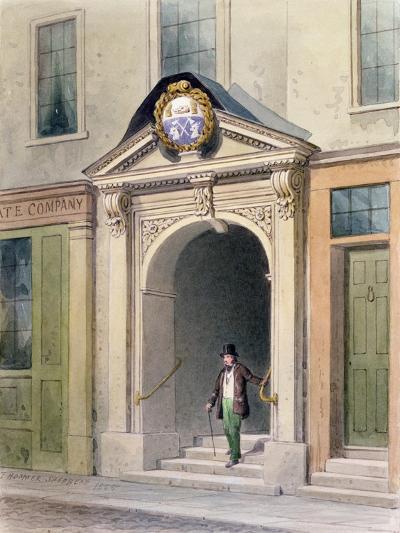 The Entrance to Butchers' Hall, 1855-Thomas Hosmer Shepherd-Giclee Print