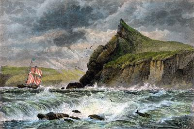 The Entrance to Fowey Harbour, Cornwall, 19th Century--Giclee Print