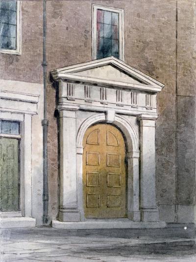 The Entrance to Masons' Hall, 1854-Thomas Hosmer Shepherd-Giclee Print