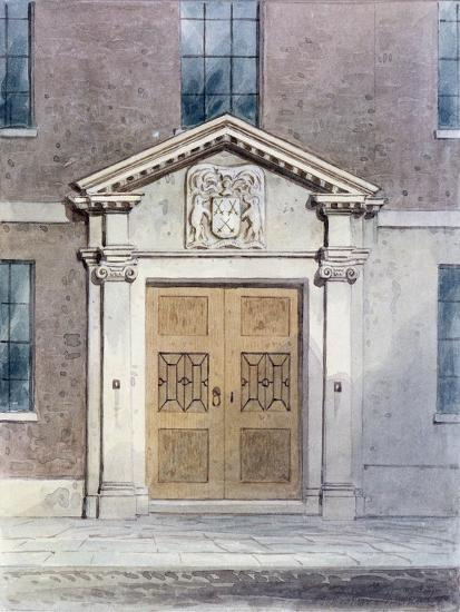 The Entrance to the Cutlers Old Hall, 1850-Thomas Hosmer Shepherd-Giclee Print