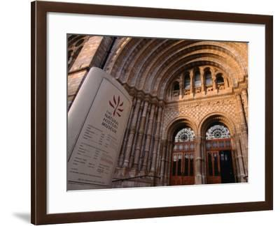 The Entrance to the Natural History Museum - London, England-Doug McKinlay-Framed Photographic Print