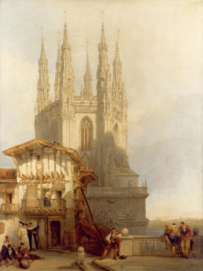 The Entrance to the North Transept, Burgos Castle, 1835-David Roberts-Giclee Print