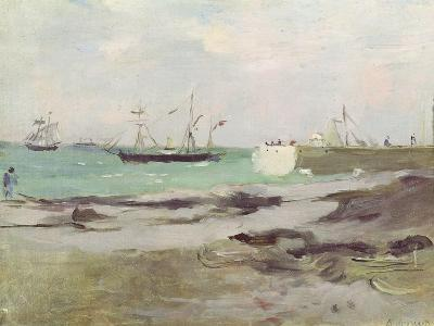 The Entrance to the Port of Boulogne, 1880-Berthe Morisot-Giclee Print