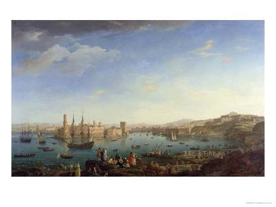 The Entrance to the Port of Marseilles, 1754-Claude Joseph Vernet-Giclee Print