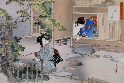 The Entrance to the Tea Rooms, C1886-1908-Mizuno Toshikata-Giclee Print
