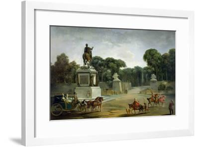 The Entrance to the Tuileries from the Place Louis XV in Paris, circa 1775-Jacques Philippe Joseph Saint-Quentin-Framed Giclee Print