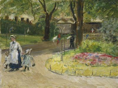 The Entrance to the Zoological Gardens, Frankfurt (Papagaienallee), 1901-Max Slevogt-Giclee Print