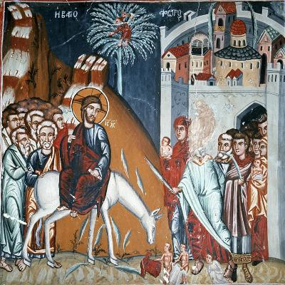 The Entry into Jerusalem-Symeon Axenti-Giclee Print