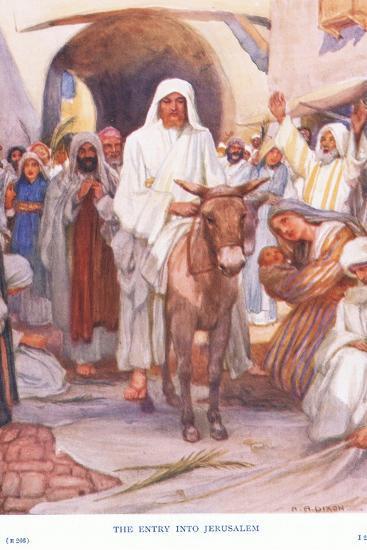 The Entry into Jerusalem-Arthur A^ Dixon-Giclee Print