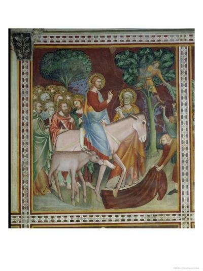 The Entry of Christ Into Jerusalem, from a Series of Scenes of the New Testament- Barna Da Siena-Giclee Print
