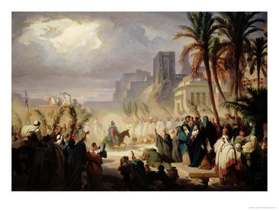 The Entry of Christ into Jerusalem-Louis Felix Leullier-Giclee Print